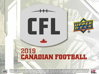 2019 Upper Deck CFL Football Hobby Box New/Sealed