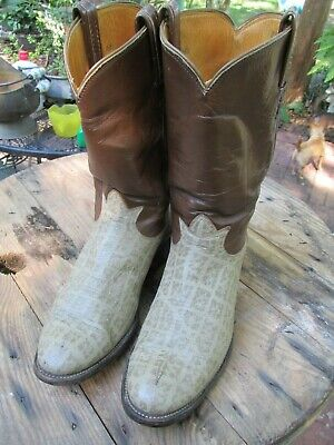 5d7fe9a843f VINTAGE 70'S MEN'S TONY LAMA EXOTIC LEATHER COWBOY WESTERN BOOTS MADE USA  9.5 D