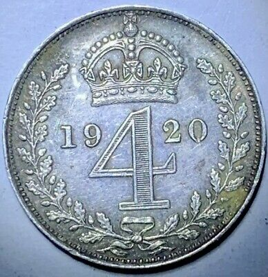 GB . King George  V . 1920. FourPence   . Maundy  . Nice  Coin.