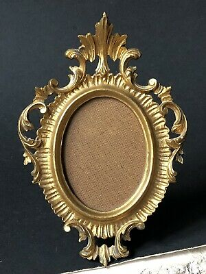Vintage Gold ITALY ITALIAN Antique ORNATE PICTURE Frame Small Hollywood REGENCY