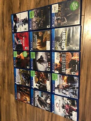 Lot of 16 PS4 Games. All Used. 2 Unopened From Dealer. VG Condition