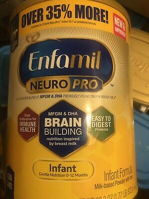2 Enfamil Infant Formula w/Iron Milk-based Powder neurpro 27.4 Oz 10/19