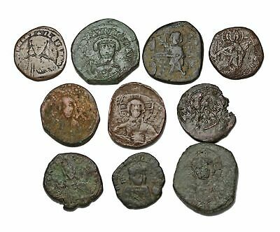 BYZANTINE. Lot of 10, all follis. Variety of types and emperors