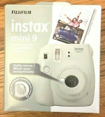 Fujifilm Instax Mini 9 - Smoky White Instant Film Camera New