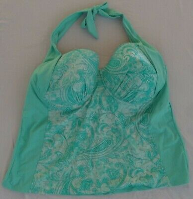 8c3a93e5852 Catalina Womens Halter Tankini Top Size 2X Floral Stretch Bathing Suit  (18w-20w)