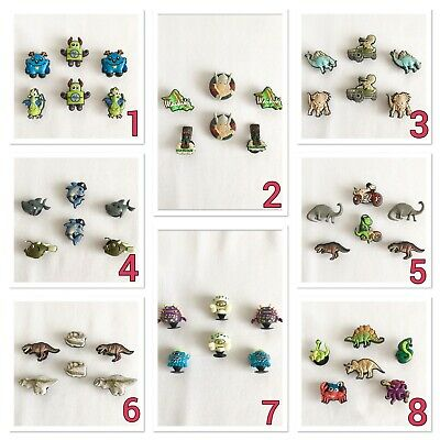Lot of 6 Pcs CROCS Charms Shoe/Fun Pins Dinos/Monsters/Animals $9.00 each Set