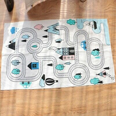 Waterproof Canvas Floor Play Mat Rug Child Infant Baby Kids Crawling Game Mat