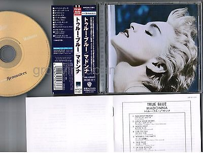 Madonna Tue Blue Japan CD Wpcr-11061 W / Obi ' 2001 Warner Remasters' Neuauflage