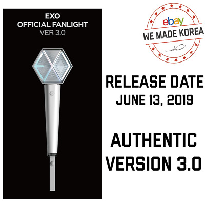 [PRE ORDER] EXO Official Fanlight Lightstick Ver 3.0 + Benefit + Sealed packing