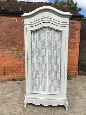 Beautiful Painted Continental Armoire Wardrobe in Annie Sloan 'Paris Grey'