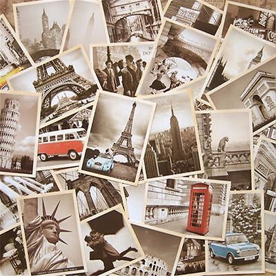 32 pcs Retro Style Printed Old Advertising Postcards Wall Decorations Cards Set