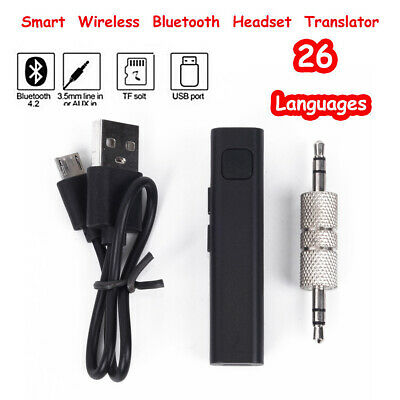 Clip-on Smart Voice Translator Real Time Bluetooth Translation Headset