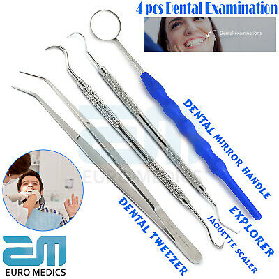 4 Pcs Professional Double Ended Teeth Clean Dental Probes & Scalers Pick Tools