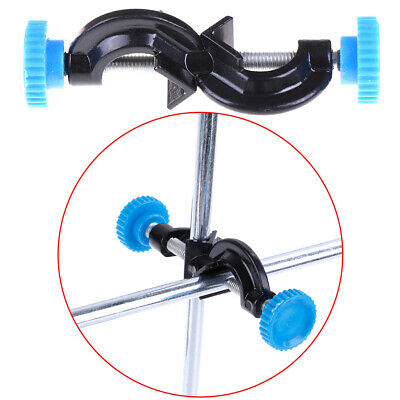 Lab Stands Double Top Wire Clamps Holder Metal Grip Supports Right Angle Clip PB