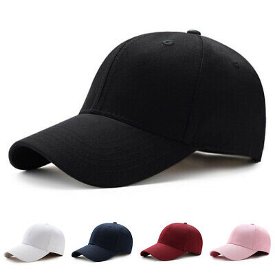 US Men Women Plain Curved Sun Visor Baseball Cap Hat Solid Color Adjustable Caps