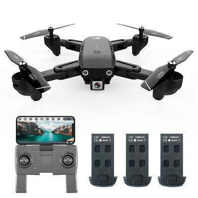 US CSJ S166GPS Drone with Camera 1080P RC Quadcopter for Adults w/3 Battery J4J3