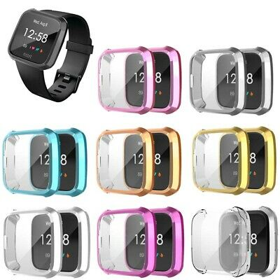 Shockproof TPU Full Protective Screen Protector Case Cover For Fitbit Versa Lite