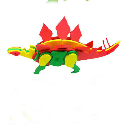 Dinosaur 3D Wooden Puzzle-Action Moveable Toy Figures Model Kits Gift FI