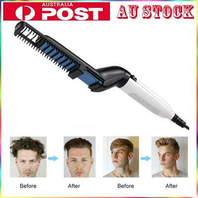 Quick Beard Straightener Multifunctional Hair Comb Curling Curler Show Cap Men