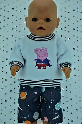 """Play n Wear Doll Clothes To Fit 17"""" Baby Born FLEECY TOP~PATTERN PANTS"""