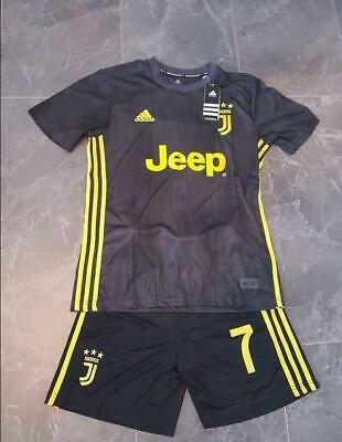 various colors c06d8 8be4f 2019 JUVENTUS JERSEY Football Dark Grey Away Kit for 3-14 Years Kids  Suit+socks