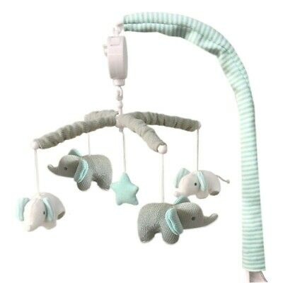 Living Textiles Elephant Musical Mobile Aqua
