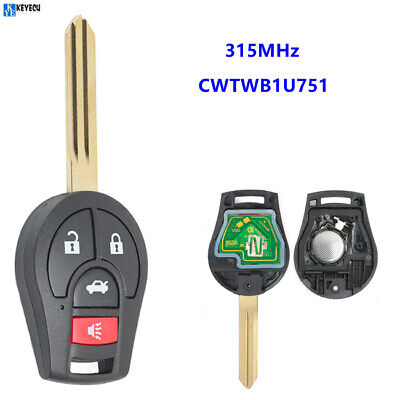 for Nissan Rouge Cube Juke Versa Replacement 315MHz Remote Key Fob CWTWB1U751