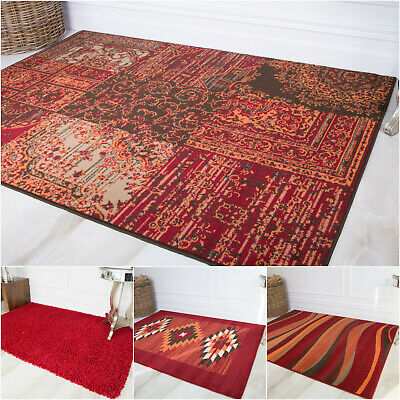 Red Burgundy Living Room Rugs Soft Non Shedding Easy To Clean Cheap Home Decor