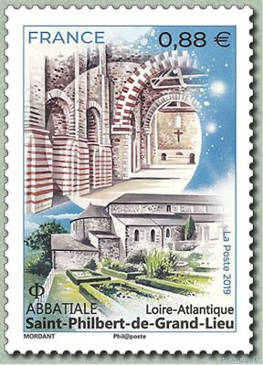 France 2019  Abbatiale Saint-Philbert-de-Grand-Lieu  Loire-Atlantique MNH / Neuf