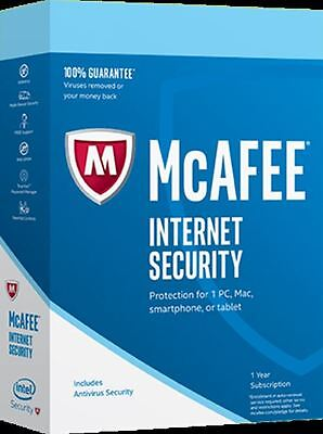 McAfee Internet Security 2019 Unlimited Users (PC/Mac/Android/iOS) 12 Month