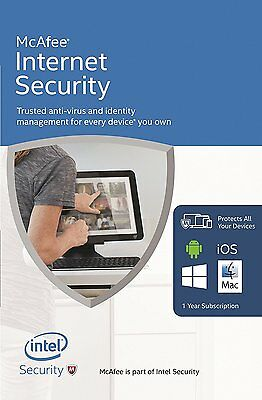 DOWNLOAD McAfee Internet Security 2019 Unlimited Users 12 Month Latest Update