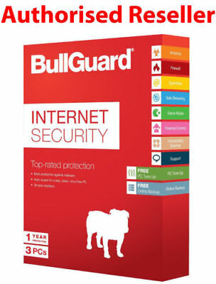 Bullguard Internet Security 2019 3 PC's 12 Months License PC 3 user