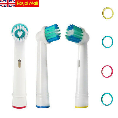 8x Electric Toothbrush Heads Compatible With Oral B Braun Toothbrush Head Models