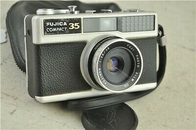 Vintage Fujica Compact 35 35mm Film Point & Shoot Camera With Black Case Cameras