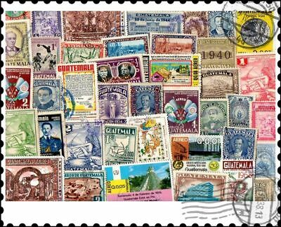 Guatemala : 50 Different Stamps Collection