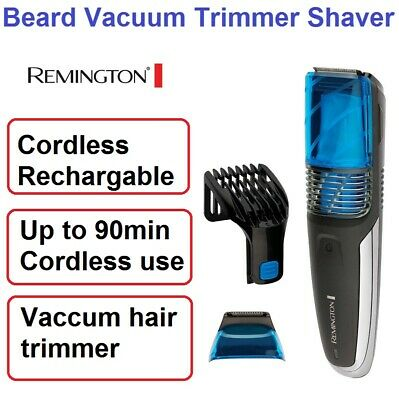 Remington Beard Shaver with Vacuum Cordless Hair Trimmer Clipper Groomer NEW