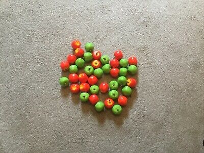 JOB LOT - Artificial Fruit (Mini Apples x 40) - Mixed Red and Green