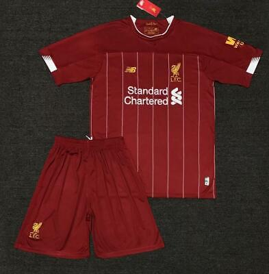 UK19-20 Soccer Home Away Kit Suits Jersey Strip Kids/Adults Outfits Shirt Shorts