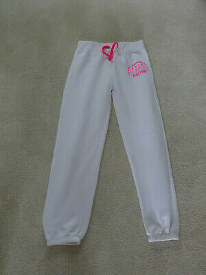 Girls White Jogging Pants Age 10-11 Years By Young Dimension