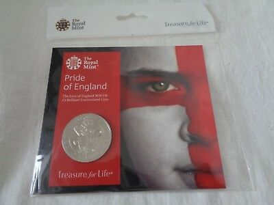 PRIDE OF ENGLAND - SPECIAL ISSUE - For The WORLD CUP 2018 - £5 Coin - BU Rare -