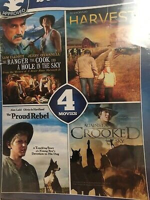 8 Movie Dove Collection DVD Harvest Against The Crooked Sky Proud Rebel New