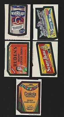 Topps Wacky Packages Lot of 5 Miscuts