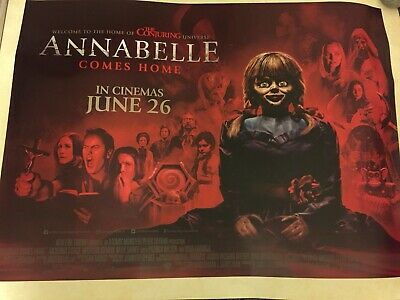 """Annabelle Comes Home (2019) Original Cinema Quad Poster 40x30"""" UK, Double Sided"""
