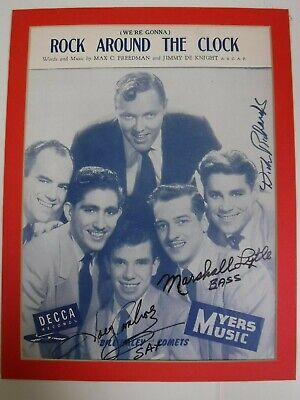 "Bill Haley Signed Sheet Music ""Rock Around The Clock""--Ambrosio, Richards, Lytle"