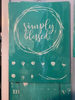 *NEW* SIMPLY BLESSED Size E Chalk Couture Transfer WREATH