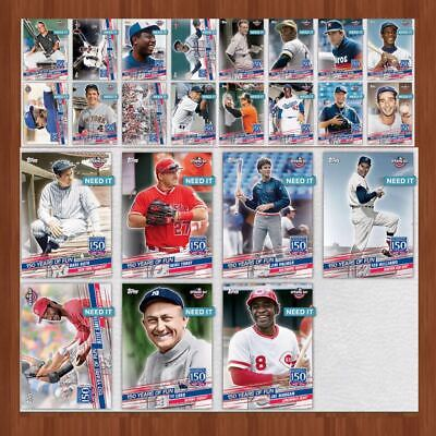 2019 150 YEARS OF FUN BASE COMPLETE SET OF 23 CARDS Topps Bunt Digital Card