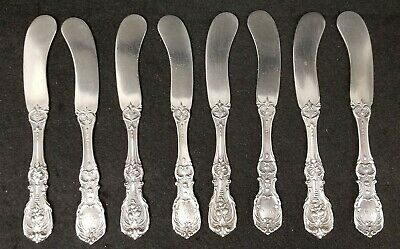 8  Reed & Barton Francis 1st Sterling Silver Butter Pats w/mono