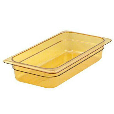 Cambro 32HP150 H-Pan Amber High Heat Hot Food Pan 1/3 Size (6 per case)