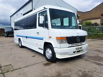 Mercedes 814D Vario, 28 seat bus COIF and MOT, ideal camper motorhome conversion