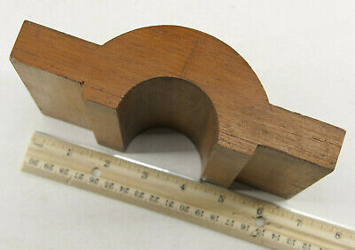 "Lamson Industrial Foundry Wood ~6.5"" Bushing Cap Machine Part Mold Pattern M56M"